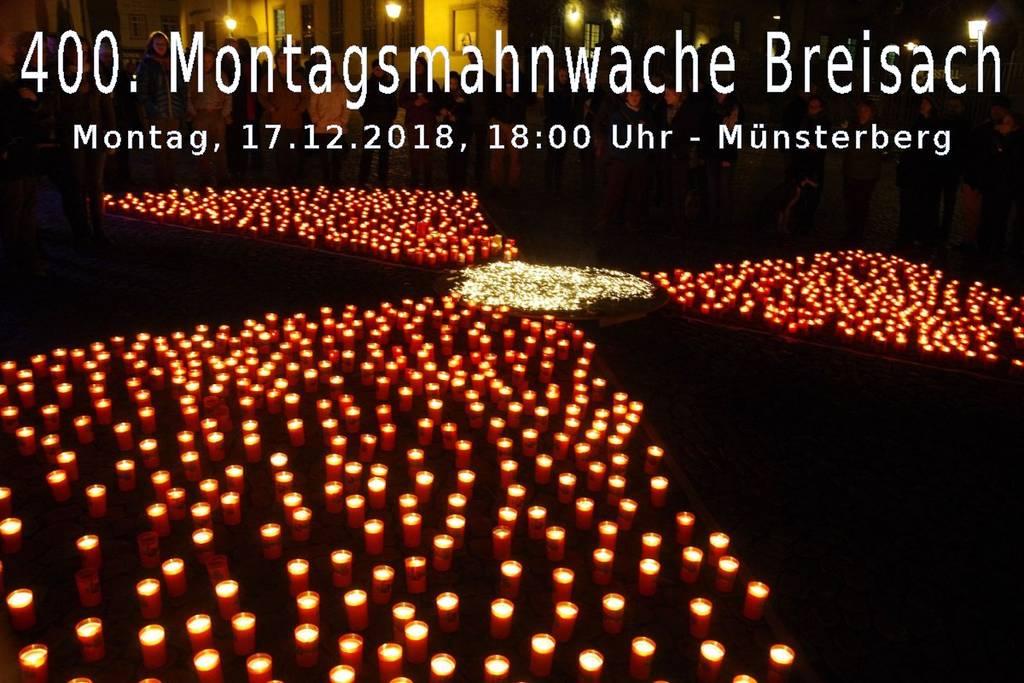 400. Breisacher Montagsmahnwache
