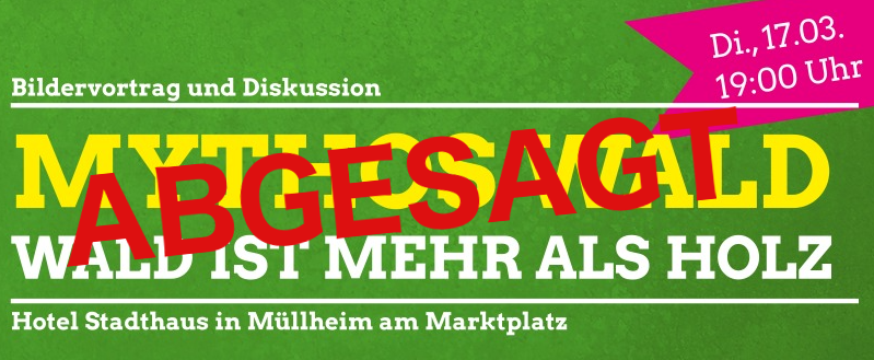 Abgesagt: Bildervortrag und Diskussion: Mythos Wald