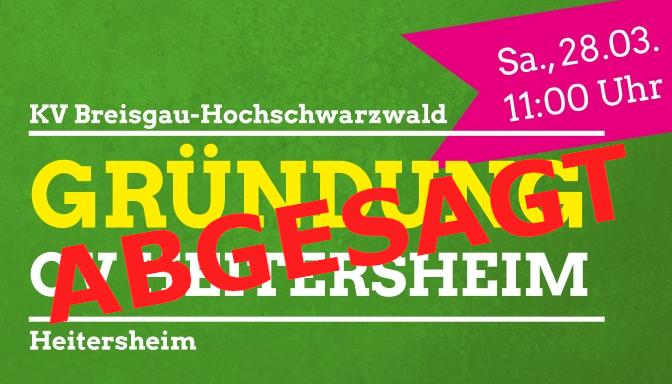 Abgesagt: Gründung OV Heitersheim