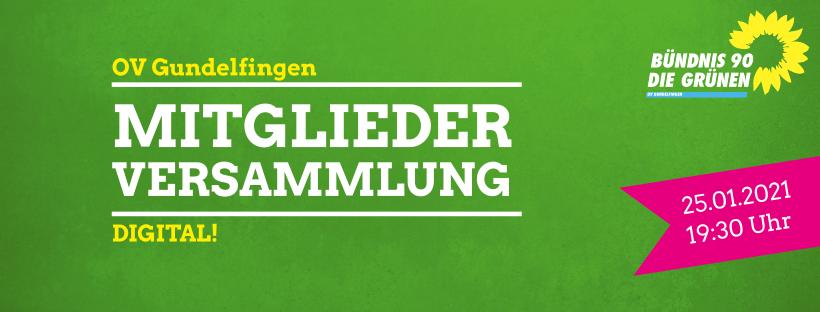 OV Gundelfingen: Einladung zur Mitgliederversammlung