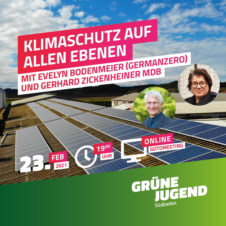 """""""Klimaschutz auf allen Ebenen"""" mit Evelyn Bodenmeier (GermanZero) & Gerhard Zickenheiner MdB"""