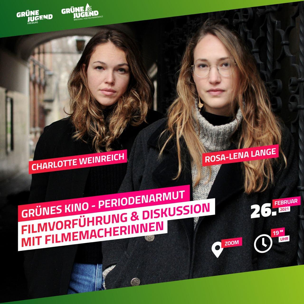Grünes Kino zu Periodenarmut der Grünen Jugend Freiburg & Breisgau Hochschwarzwald