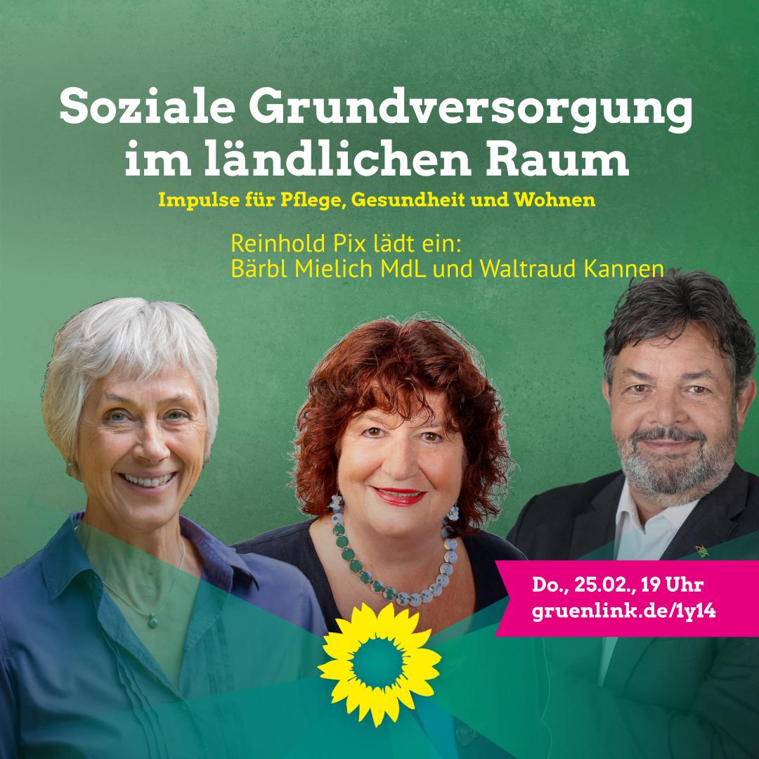 Reinhold Pix lädt ein: Soziale Grundversorgung im ländlichen Raum