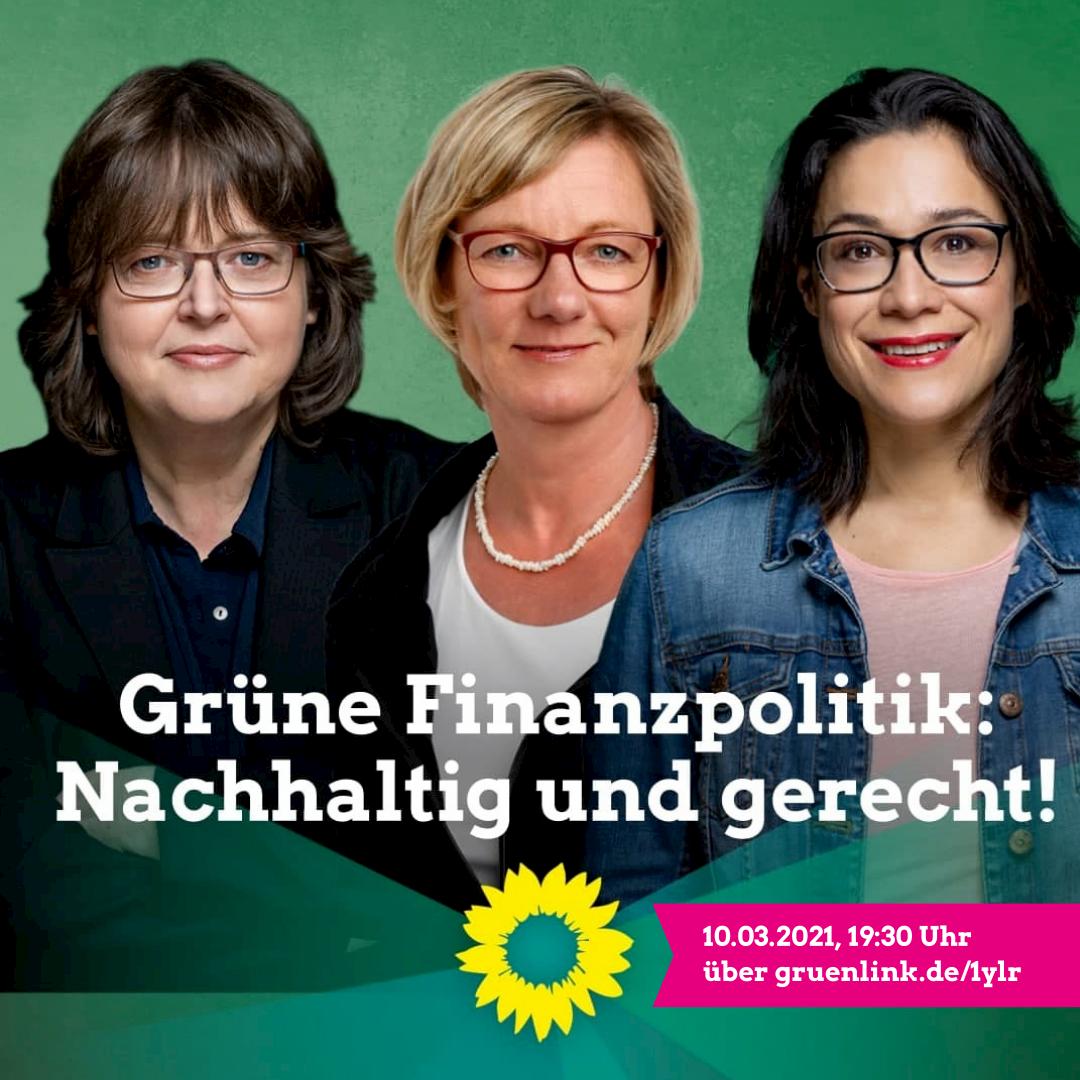 Grüne Finanzpolitik: nachhaltig & gerecht!