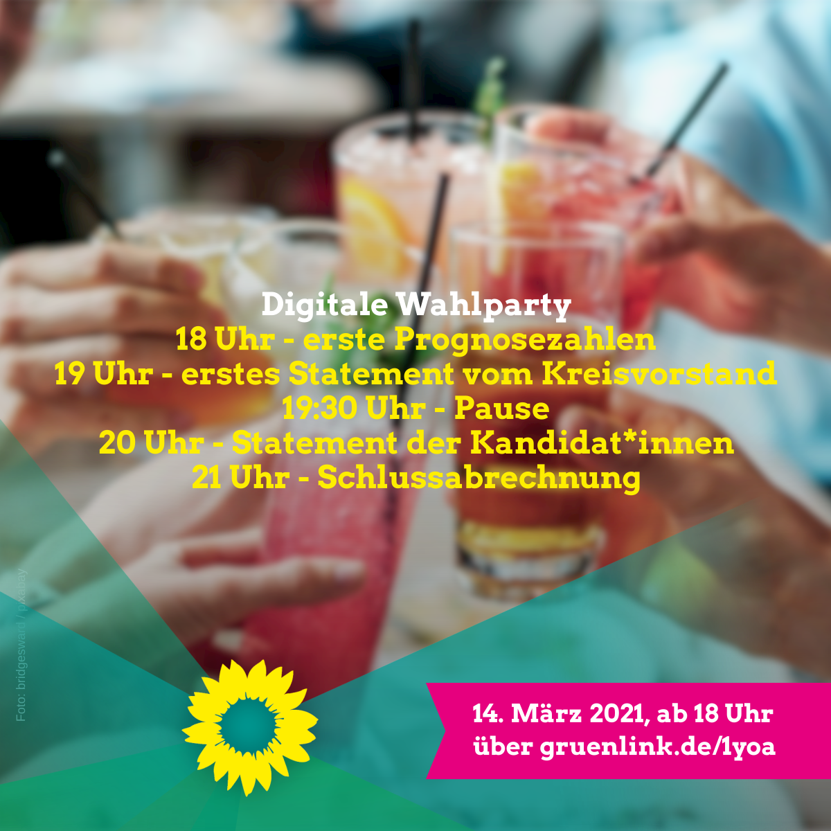 Digitale Wahlparty