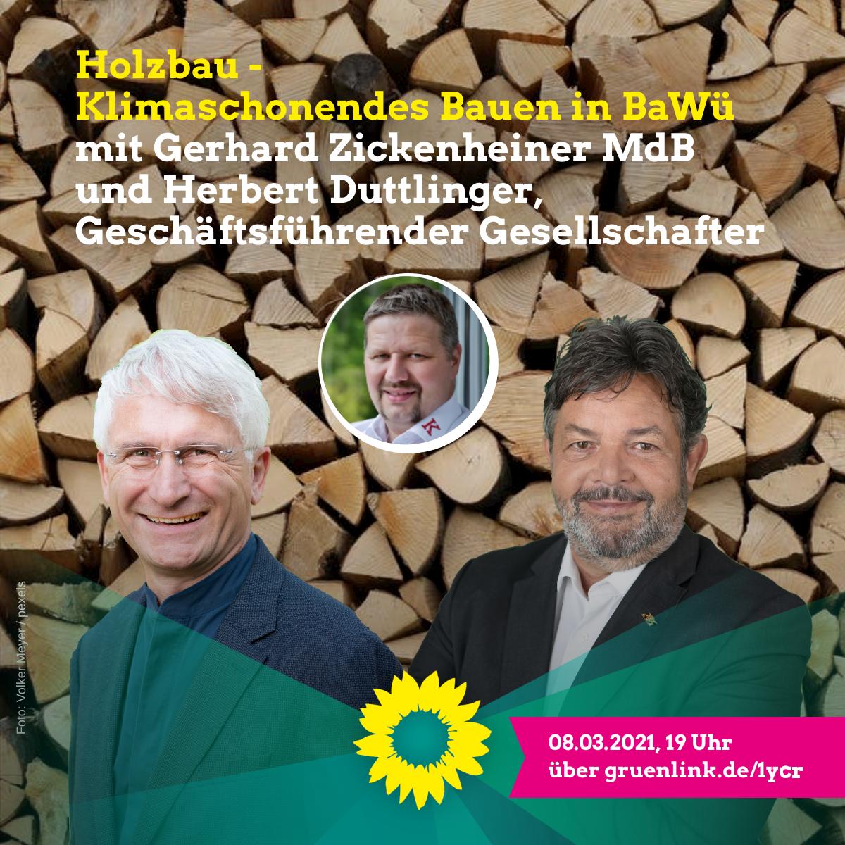 Reinhold Pix lädt ein: Holzbau – Klimaschonendes Bauen in Baden-Württemberg