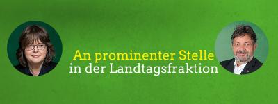 Pressemitteilung:  Zwei unserer Landtagsabgeordneten an prominenter Stelle in der Landtagsfraktion