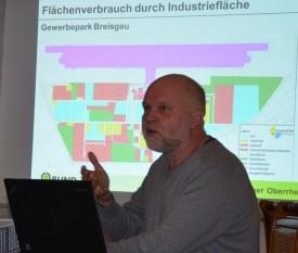 BUND-Geschäftsführer Axel Mayer bei seinem Vortrag