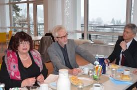 Bärbl Mielich im Gespräch im Erich-Fried-Haus in Staufen