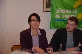 Ina Rosenthal neben Eddi Berger vom OV-Vorstand
