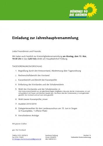 Einladung JHV 13052013
