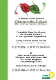 Flyer Fischer und Palmer Vortrag Breisach