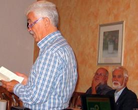 Die Referenten des Abends: Friedrich Merkle und Walter Witzel